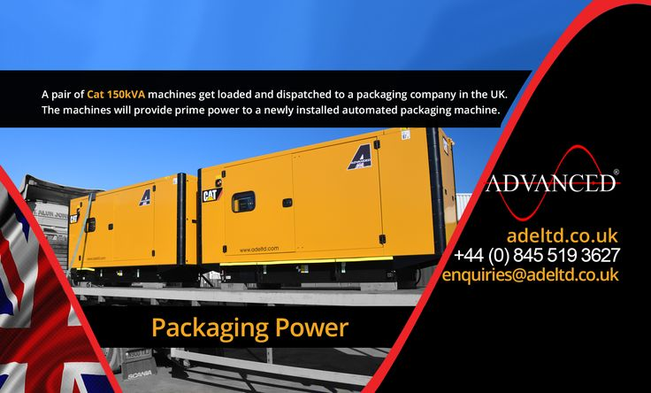 Packaging Power.  A pair of Cat 150kVA machines gets loaded & dispatched to a packaging company in the UK.  The machines will provide prime power to a newly installed automated packaging machine.  Visit: www.adeltd.co.uk/ for more information on Diesel Generators, acoustic enclosures, fuel tanks, modular switchgear housings, UPS modular buildings + much more.   Email: enquiries@www.adeltd.co.uk/   #DieselGenerator #ThursdayThoughts #farming #electricity #powercut