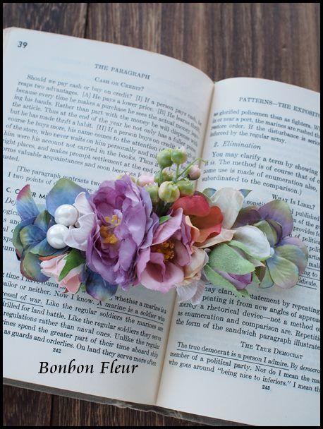 Bonbon Fleur ~ Jours heureux コサージュ&和装髪飾り