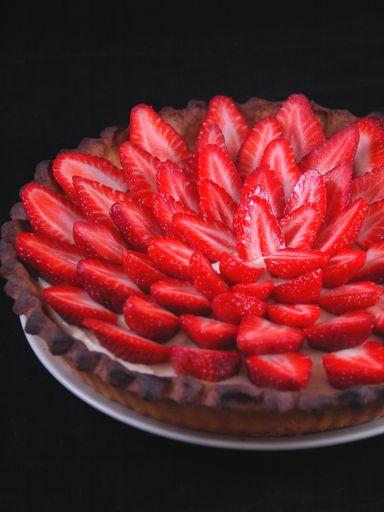 Recette  the  tarte aux fraises
