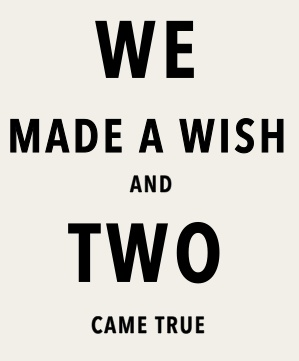 Although I would say prayer instead of wish :)