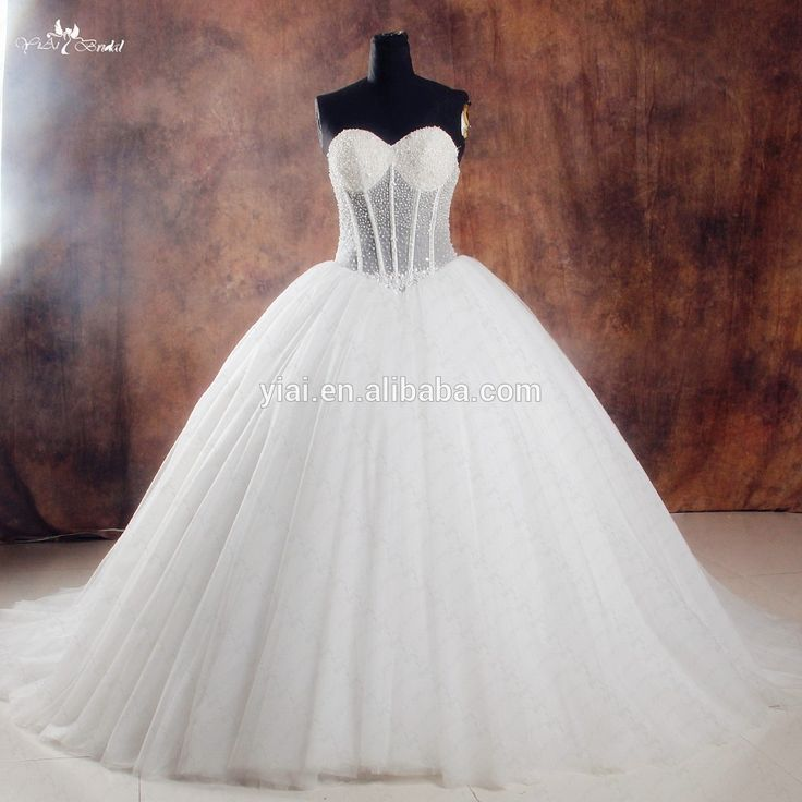 Wholesale RSW1000 See Through Corset Puff Ball Gown Wedding Dress Online Shop - Alibaba.com