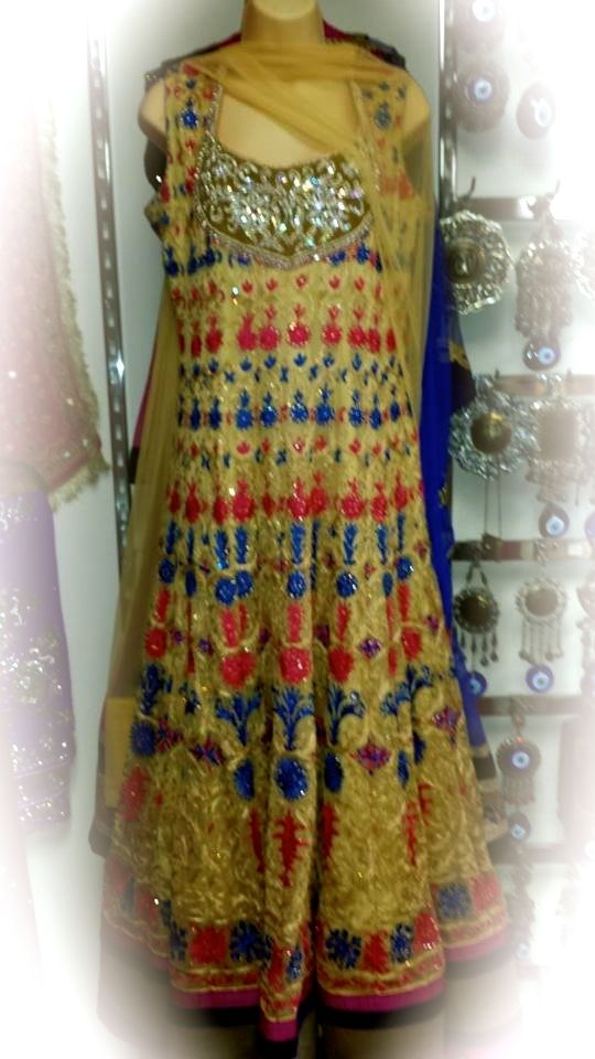 Exquisite Anarkali also available in Orange and pink combination.