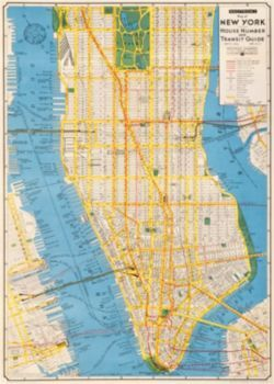 This vintage New York map is a unique piece of art and history. Frame as wall art or use as gift wrap for a designer look. Printed on Italian acid free paper. From Cavallini & Co.<br /><br />Sheet siz
