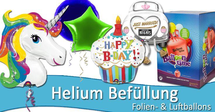 Helium + heliumgefüllte Ballons im Partyshop in Rodgau bei Frankfurt + Offenbach kaufen