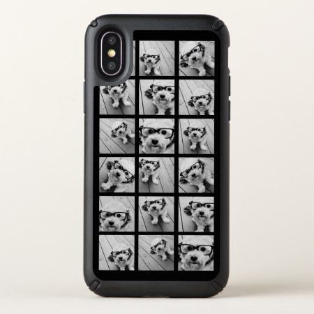 Instagram Photo Collage - Up to 18 photos Black Speck iPhone X Case - click/tap to personalize and buy
