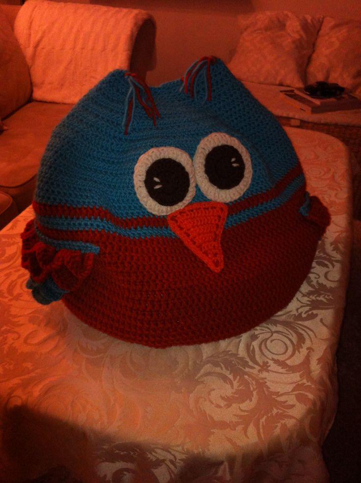 Crochet .. Hæklet sækkepude til baby