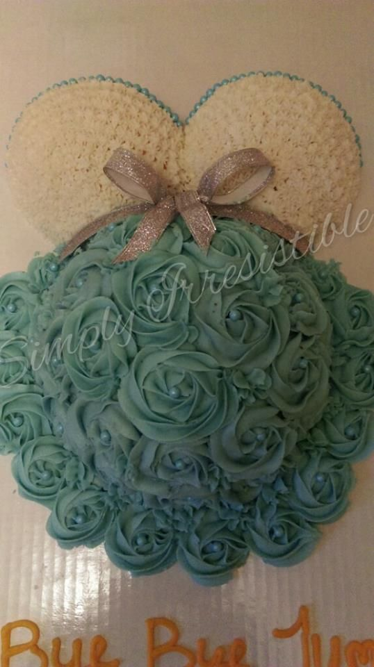 ALL BUTTERCREAM BABY BUMP CAKE SERVES 40