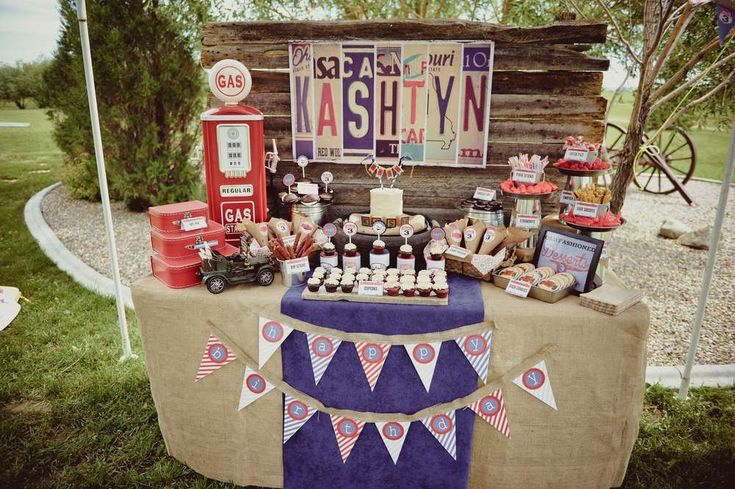 Vintage Car's Birthday Party Ideas | Photo 1 of 33 | Catch My Party