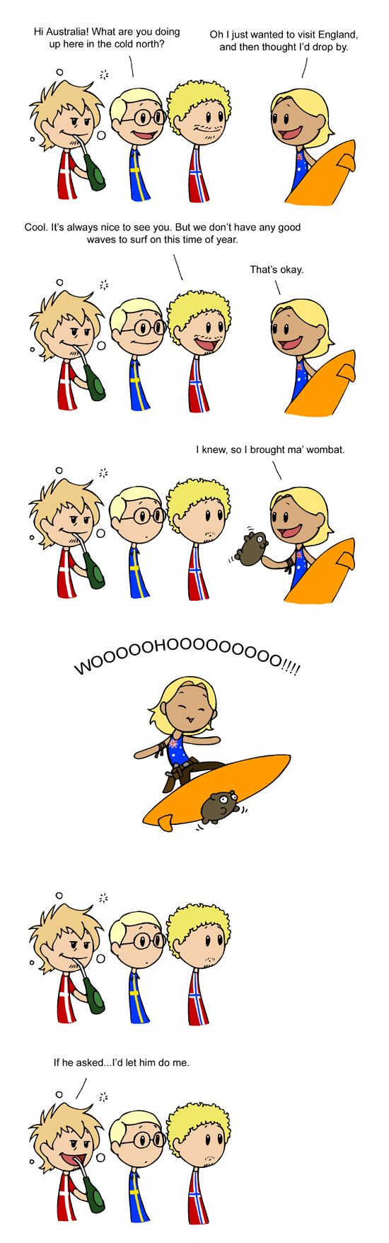 Good to see you Australia by humon on deviantART: no one is surprised Denmark...