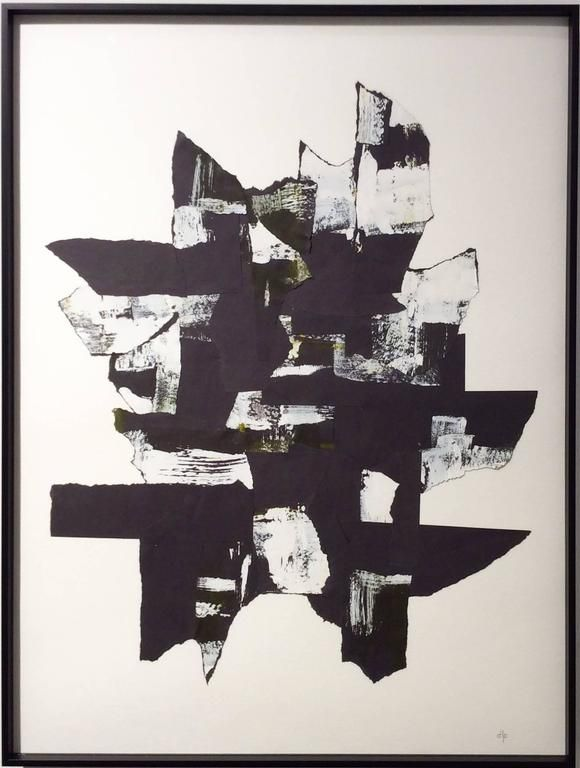 Abstraction II (Black and white paper collage with acrylic) 1