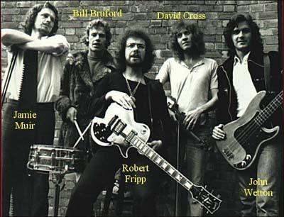 King Crimson, featuring Jamie Muir, Robert Fripp, John Wetton, Bill Bruford and David Cross