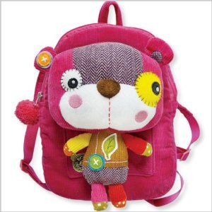 Eco Snoopers / Backpack with Removable Plush, Smile a Lot Bear