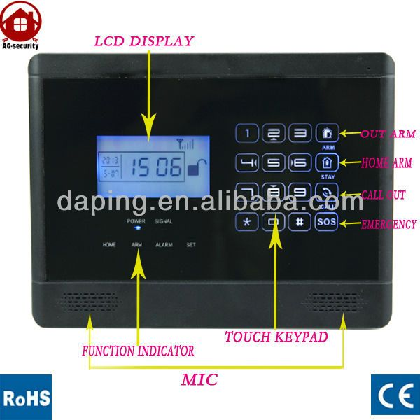433mhz wireless alarm systems with alarms tones