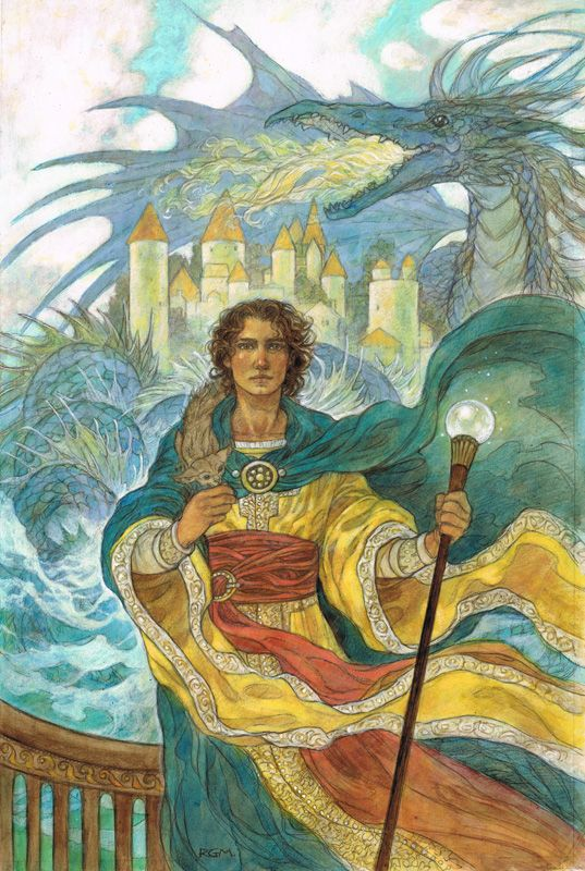 """Wizard of Earthsea"" original illustration by Rebecca Guay 