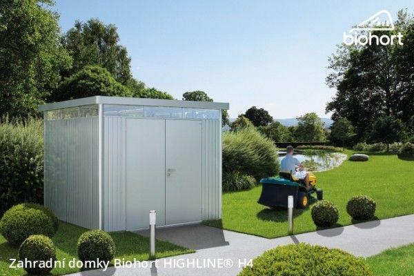 Zahradní domek HIGHLINE® H4, tmavě šedá metalíza     - Kliknutím zobrazíte detail obrázku.