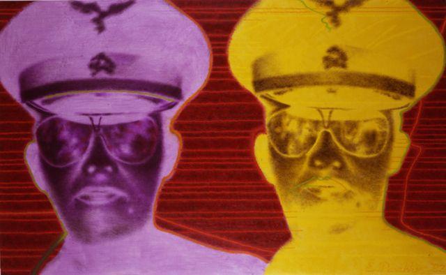 """ED PASCHKE """"Sauganash"""" 46 """"por 74"""" oil_canvas 1983 COPYRIGHT-EL DOMINIO DE ED PASCHKE.  CORTESÍA-MARY Boone Gallery, Nueva York."""