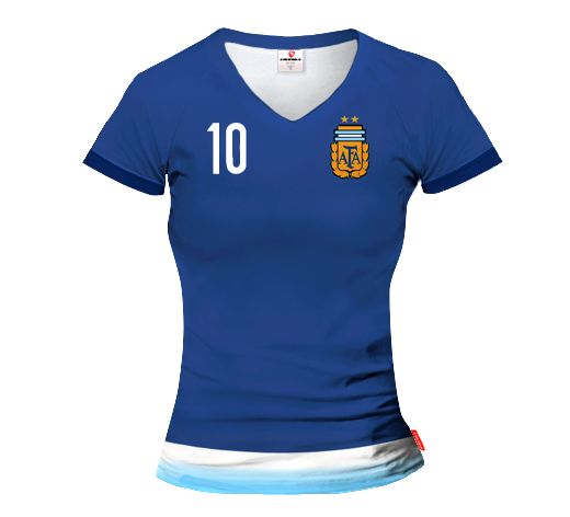 ARGENTINA AWAY 2015/16 Football Women's Jersey With Custom Name And Number