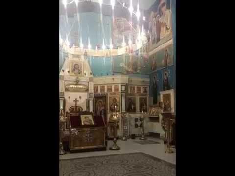 "The Orthodox Cathedral of Rimini. The holy icon of the Theotokos.Baptized as ""Riminskaya"" and wallpaintings from the hand of iconographer.Qirjako Kosova. (Rimini/Italy)"