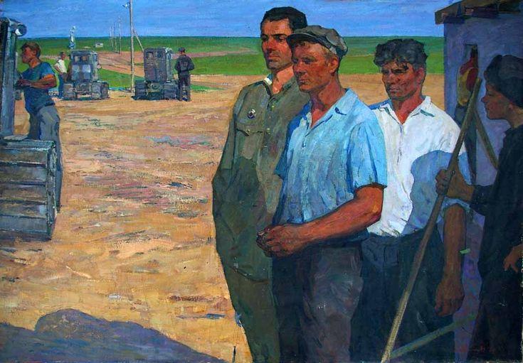 Aron Isaakovič April', Contadini lavoratori, 1961 - Collezione privata