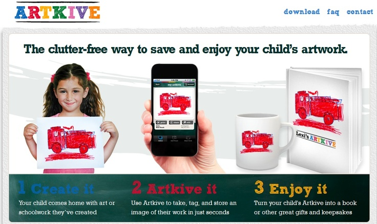 Artkive, the clutter-free way to save and enjoy your child's artwork