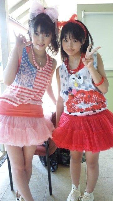 Sayumi and Riho from Morning Musume