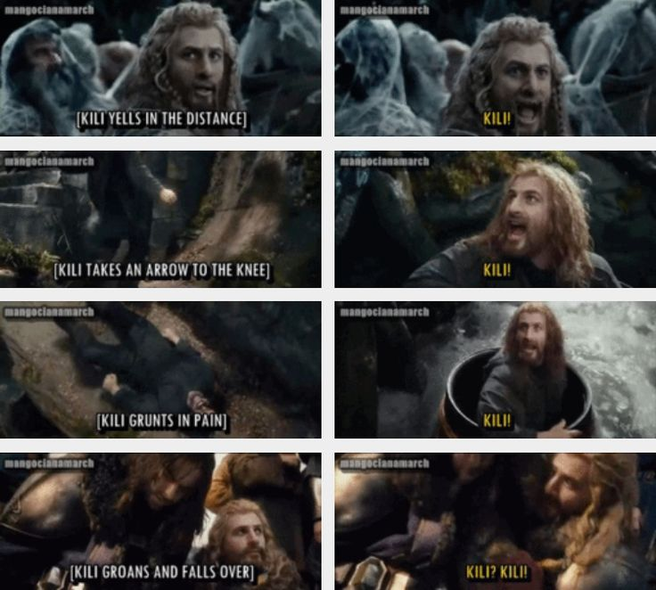 "5 times there was nothing left in Fili's vocabulary except his brother's name. Can't handle this. If the last thing he says is ""Kili,"" I'm pretty sure I will never stop crying. ---WHY DID I NEED FEELINGS THIS IS SO SWEET AND IT HURTS"