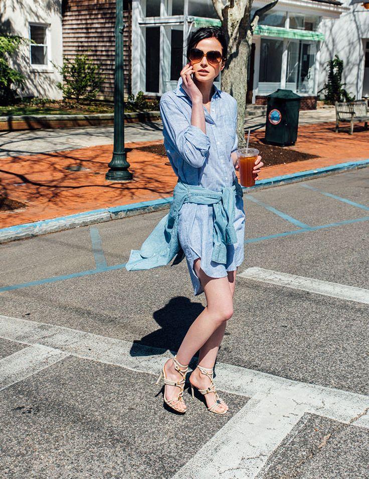 夏に重宝する涼しげなシャツワンピースは、トラディショナルなスタイルとストリートライクな要素がミックスした「トロヴァータ」のものをチョイス。同系色のシャツをレイヤードして、上級者の着こなしに。 Dress (TROVATA) ¥26,000+tax no.16040510000910, Shrit (Deuxieme Classe) ¥27,000+tax no.16050500721010, Sunglasses (OLIVER PEOPLES) ¥25,000+tax...