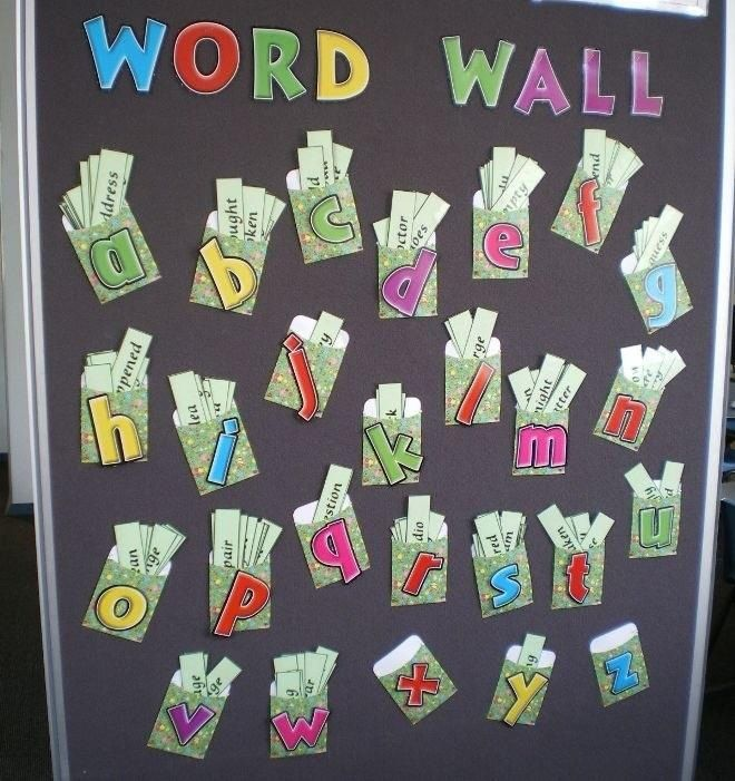 Word wall - instead of having the words in the pocket, perhaps velcro them to the wall