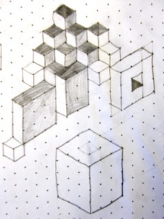 Math/art made on isometric paper