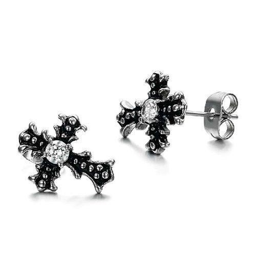 Charms Cross Earrings Punk Girls Jewelry