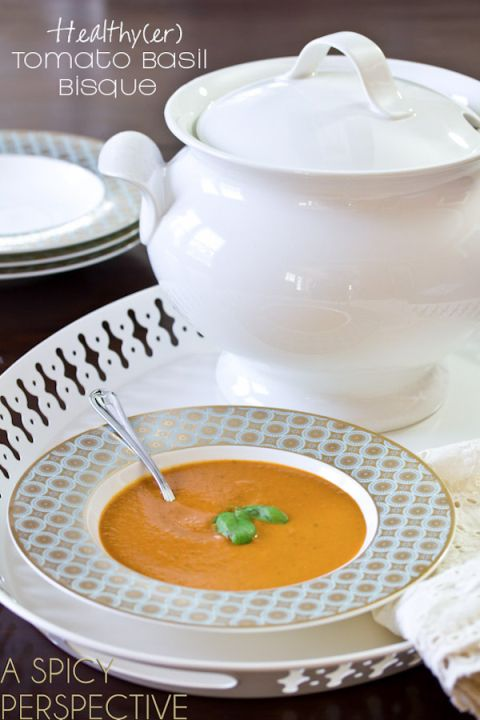 Healthy Tomato Bisque Recipe | A Spicy Perspective #soup #healthy