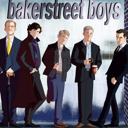 THAT IS AWESOME!!!!!! Get it? Like Back street Boys - but BAKER STREET! AHA! I LOVE IT!!!! :D