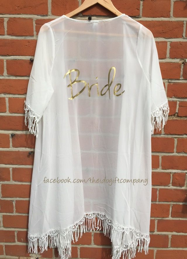 Need something different to celebrate you hen do, wedding abroad or honeymoon? The personalised Kaftans are unique and make a great accessory for arou...