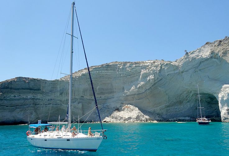 Amazing turquoise waters in Kleftiko! You can never get tired of sailing this waters.  http://www.polco-sailing.com/