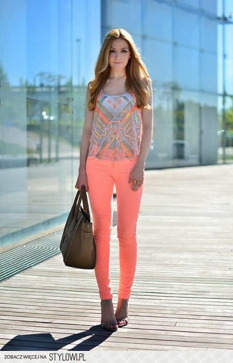 lovely peach and a print that brings out the pastel yet fun magic of this amazing colour.
