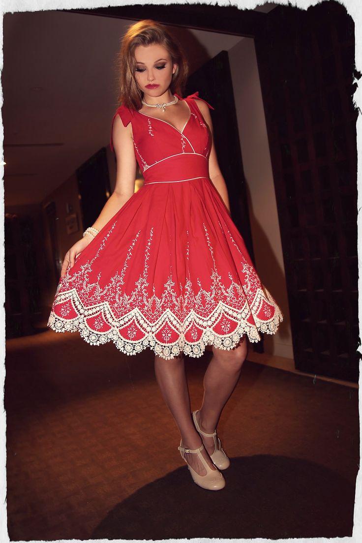 Scarlet Tie Dress