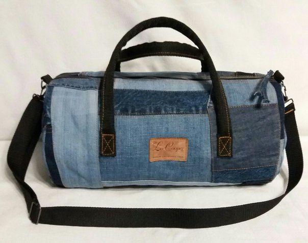 Спортивная джинсовая сумка своими руками