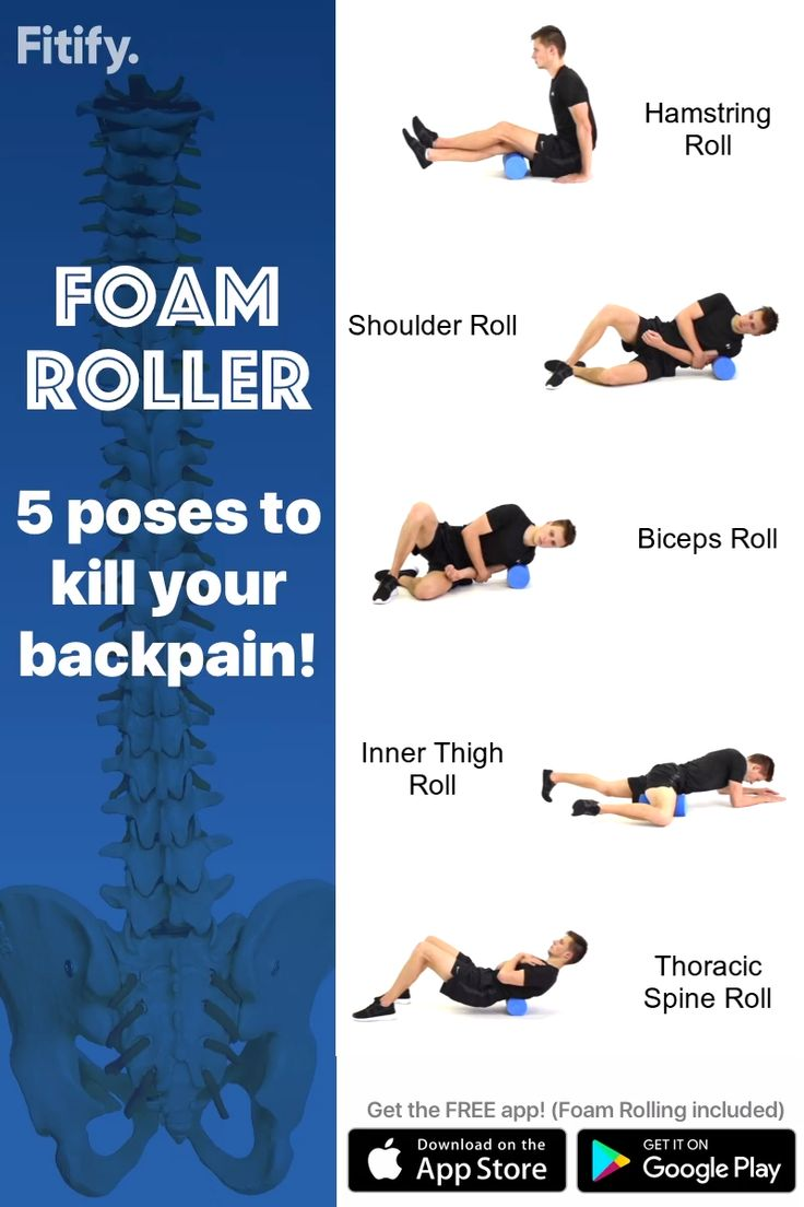 Get fitify app to get over 70 foam roller exercises and