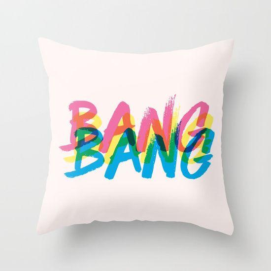 BANG! Throw Pillow by Gina Beretta Illustration    Society6