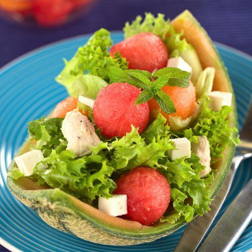 Salată cu pepene roşu şi pui | Retete culinare - Romanesti si din Bucataria internationala