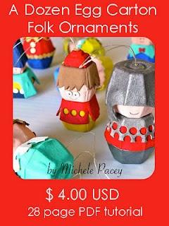 egg carton christmas ornaments