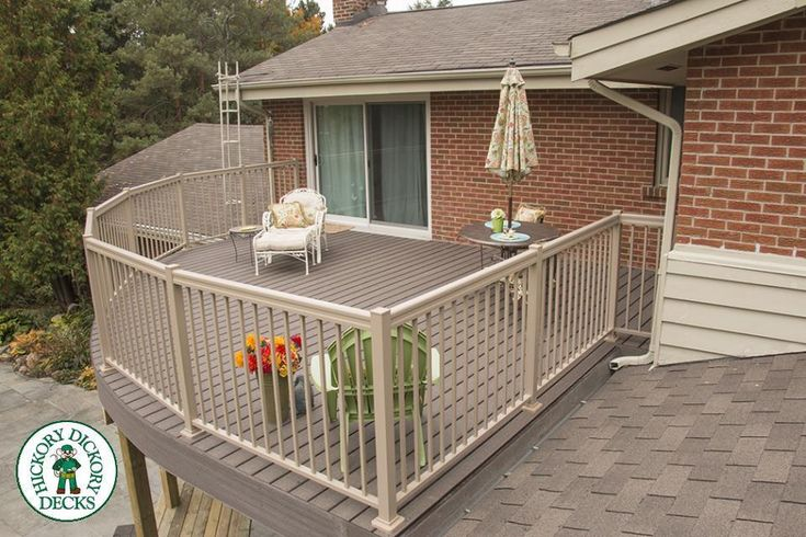 This elevated geo deck was built on a home out in the country. From its vantage point the owners are provided with gorgeous views of the countryside which surrounds them