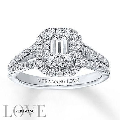 Vera Wang LOVE 1 1/3 Carat tw Diamonds 14K White Gold Ring