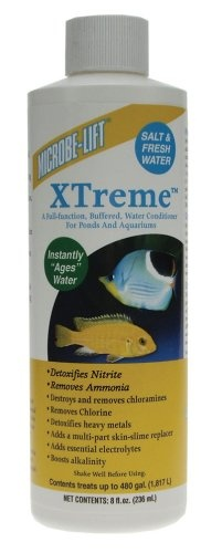 $10.12-$14.29 Microbe-Lift Xtreme for Salt and Fresh Water Home Aquariums, 8-Ounce - Xtreme is a full-function, buffered, water conditioner for ponds and aquariums. http://www.amazon.com/dp/B001L1R7FI/?tag=pin2pet-20