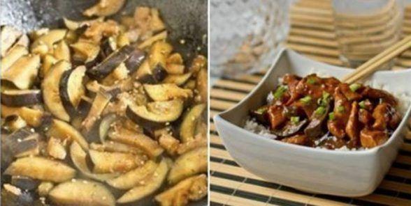 Разбавь свой скучный рацион новым ярким вкусом: курица с баклажанами по-китайски.