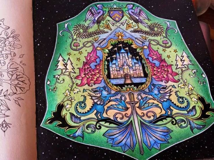 Coat Of Arms Castle Enchanted Forest Brasao Castelo Floresta Encantada Johanna Basford