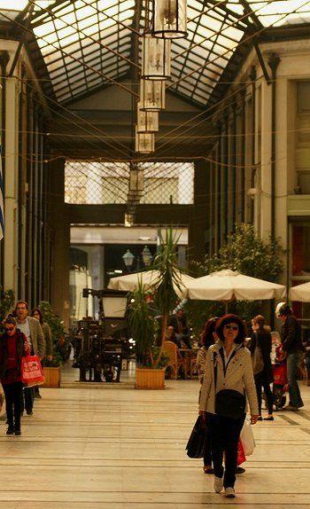 Shopping.. The Arcade of Arsakeio, Athens