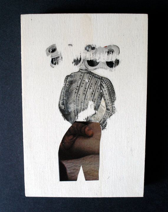 Original Mixed Media Art On Wood Transfer by WoodArtMixedMedia