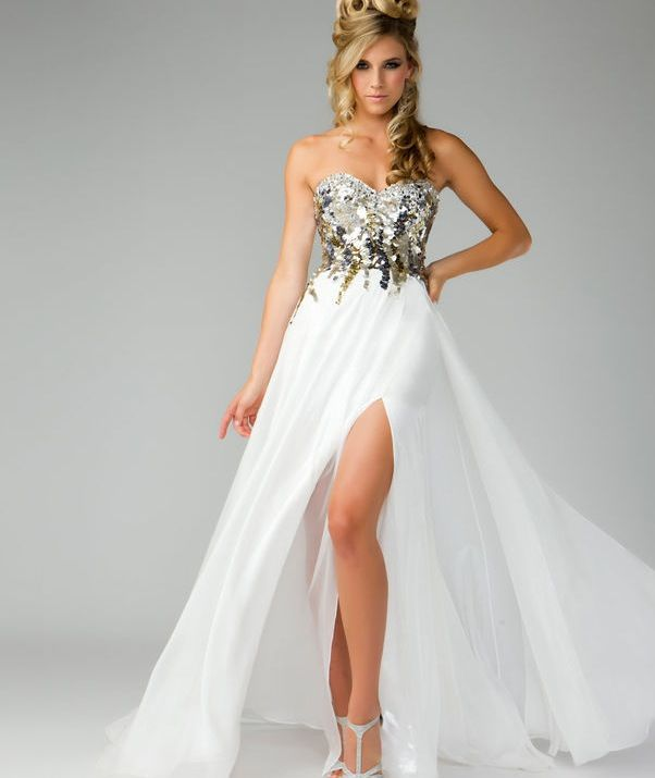 White Goddess Prom Dresses - Plus Size Dresses