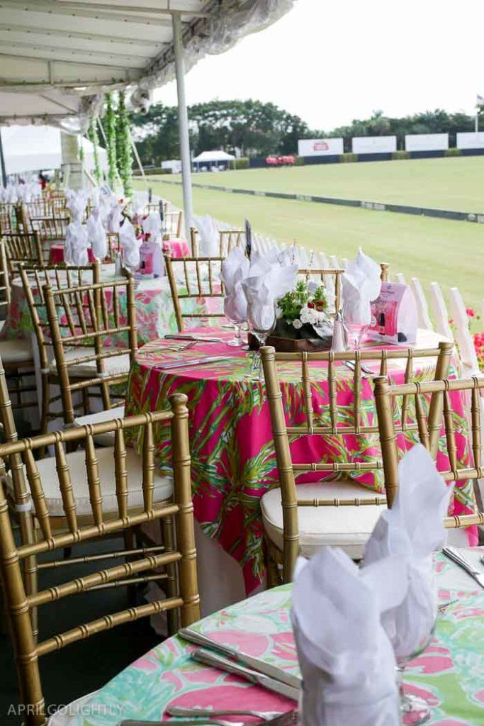 Lilly Pulitzer Patio - Party for Brunch Polo Match in Wellington Florida